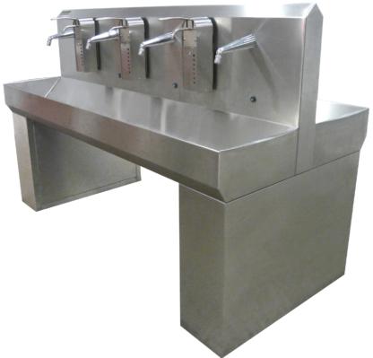 Dubbele handwasbakken