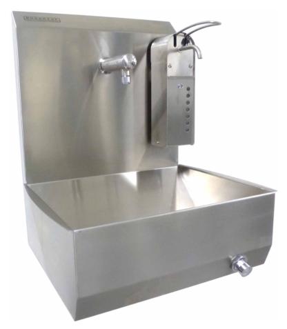 Kniebediende handwasbakken